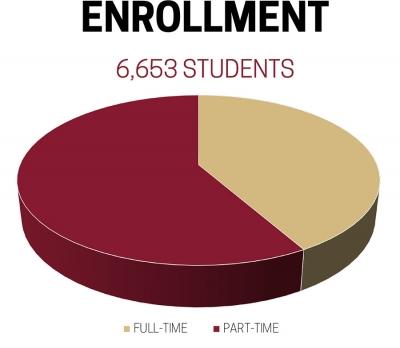 Enrollment 6653 Students